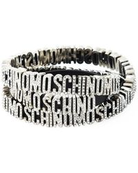 Moschino - Logo Plaque Wrap Around Bracelet - Lyst