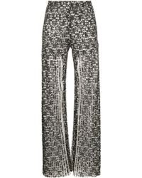Huishan Zhang - Pleated Lace Trousers - Lyst