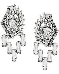 Sonia Rykiel - Crystal Embellished Earrings - Lyst