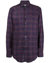 Etro - Checked Print Shirt - Lyst