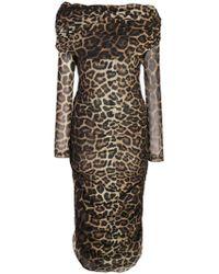 Christian Siriano - Leopard Print Dress - Lyst