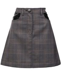 10 Crosby Derek Lam - Plaid Jean Skirt - Lyst