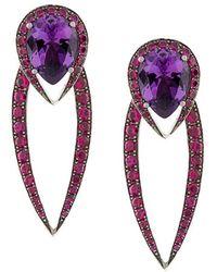 Shaun Leane | 18kt White Gold Aurora Earrings | Lyst