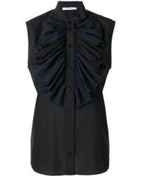 Givenchy - Frilled Bib Sleeveless Blouse - Lyst