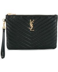 299c3fd976 Lyst - Saint Laurent Blogger  monogram  Bag in Black