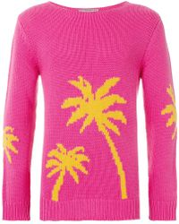 Ermanno Scervino - Palm Tree Intarsia Sweater - Lyst