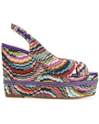 Missoni - Wedged Striped Sandals - Lyst