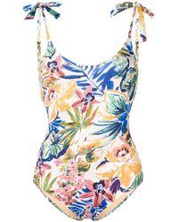 Emmanuela Swimwear - Flower Love Bow Tie Swimsuit - Lyst