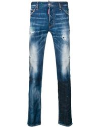 DSquared² - Distressed Regular Jeans - Lyst