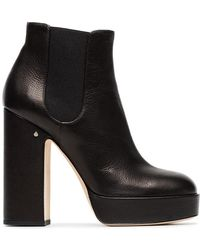 Laurence Dacade - Black Rosa 120 Leather Platform Boots - Lyst