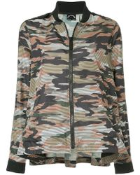 The Upside - Camouflage Bomber Jacket - Lyst