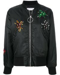 Gaëlle Bonheur - Embellished Appliqué Bomber Jacket - Lyst
