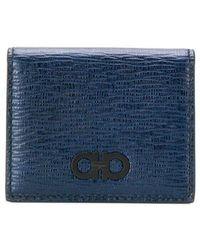Ferragamo - Gancini Logo Coin Wallet - Lyst