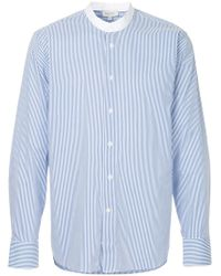 Calvin Klein - Striped Grandad Shirt - Lyst