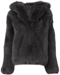 RTA - Oversized Fur Jacket - Lyst