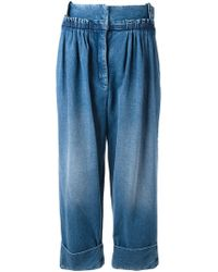 J.W. Anderson | Straight Fit Pleated Denim Trousers | Lyst