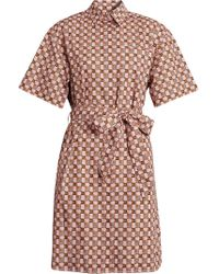 Burberry - Tiled Archive Print Cotton Shirt Dress - Lyst