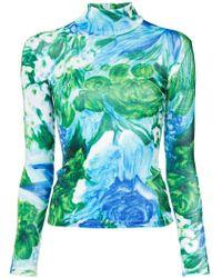 Richard Quinn - Floral Printed Jersey - Lyst