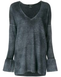 Avant Toi - Plunge Neck Knitted Top - Lyst