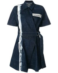 House of Holland - Taped Denim Dress - Lyst