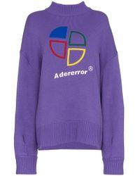 ADER error - Logo Print Wool Jumper - Lyst