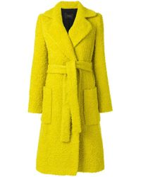 ODEEH - Textured Belt Coat - Lyst