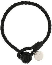 Bottega Veneta - Nero Intrecciato Nappa Bracelet - Lyst
