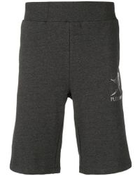 Philipp Plein - Brand Embossed Track Shorts - Lyst