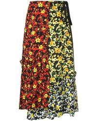Proenza Schouler - Multi Floral Asymmetrical Skirt - Lyst
