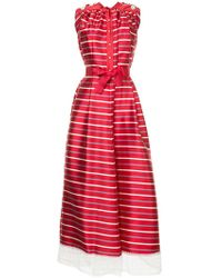 Alexis Mabille - Tulle Hem Striped Gown - Lyst