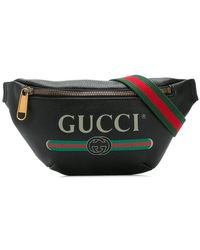 Gucci - Logo Print Belt Bag - Lyst