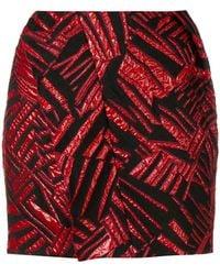 Carmen March - Short Textured Skirt - Lyst