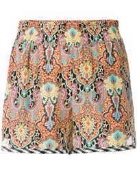 Etro - Bohemian Print Shorts - Lyst