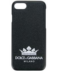 Dolce & Gabbana - Cover iPhone 7/8 con logo con corona - Lyst