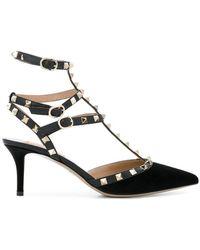 Valentino - Rockstud Velvet Slingback Court Shoes - Lyst