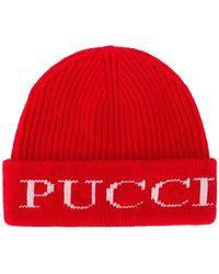 Emilio Pucci - Ribbed Logo Beanie - Lyst