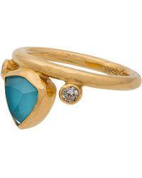 Katerina Makriyianni | Turquoise Gold Crown Ring | Lyst
