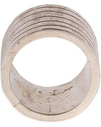 Parts Of 4 - Distressed Grooved Ring - Lyst