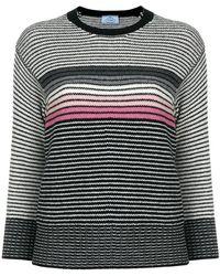 Prada | Striped Crew Neck Sweater | Lyst