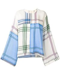 Ports 1961 - Bell Sleeves Checked Blouse - Lyst