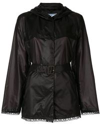 Prada - All Designer Products - Belted Wrap Jacket - Lyst