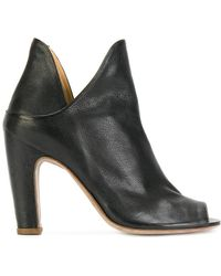 Officine Creative - Open Toe Notched Detail Ankle Boots - Lyst