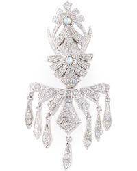 Joelle Jewellery - Pavé Diamond Earring - Lyst