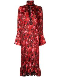 Mother Of Pearl - Kleid mit Mohnblumen-Print - Lyst