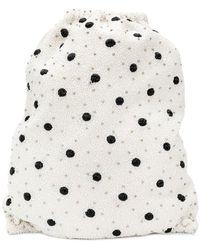 Ganni - Polka Dot Drawstring Backpack - Lyst