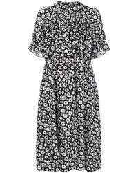 Comme des Garçons - Floral Print Ruffled Dress - Lyst