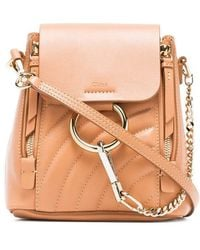 Chloé - Blush Pink Faye Leather Backpack - Lyst