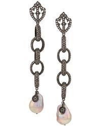 Loree Rodkin - Tahiti Pearl Earrings - Lyst