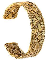 Aurelie Bidermann - 'braided' Open Bracelet - Lyst