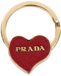 Prada - Heart Keyring - Lyst